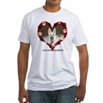 I Love my White German Shephe Fitted T-Shirt