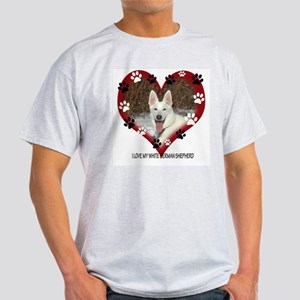 I Love my White German Shephe Light T-Shirt
