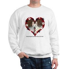 Paw Prints on My Heart, White Sweatshirt