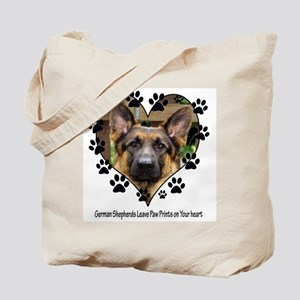German Shepherds Leave Pawpri Tote Bag