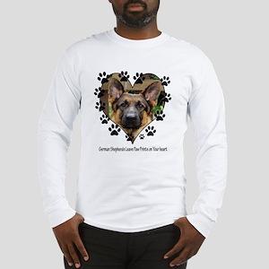 German Shepherds Leave Pawpri Long Sleeve T-Shirt