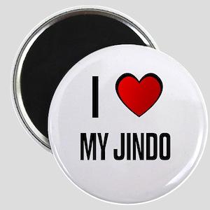 I LOVE MY JINDO Magnet