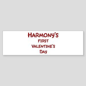 Harmonys First Valentines Day Bumper Sticker