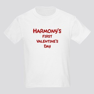 Harmonys First Valentines Day Kids Light T-Shirt