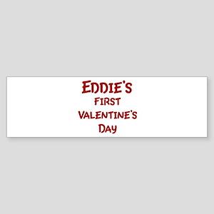 Eddies First Valentines Day Bumper Sticker