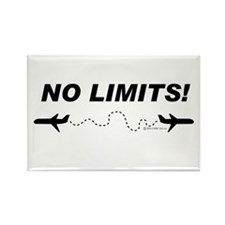 No Limits! Rectangle Magnet