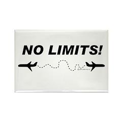 No Limits! Rectangle Magnet