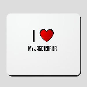 I LOVE MY JAGDTERRIER Mousepad