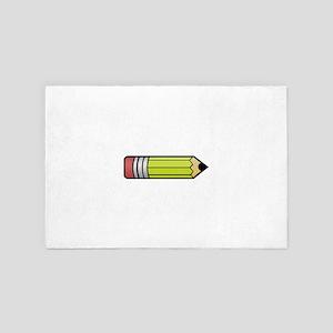 Student Looking Sharp Pencil Teacher G 4' x 6' Rug
