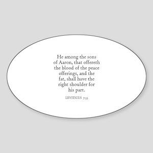 LEVITICUS 7:33 Oval Sticker