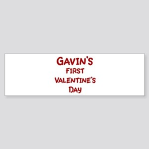 Gavins First Valentines Day Bumper Sticker