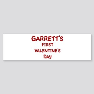 Garretts First Valentines Day Bumper Sticker