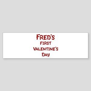Freds First Valentines Day Bumper Sticker