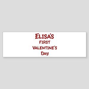 Elisas First Valentines Day Bumper Sticker
