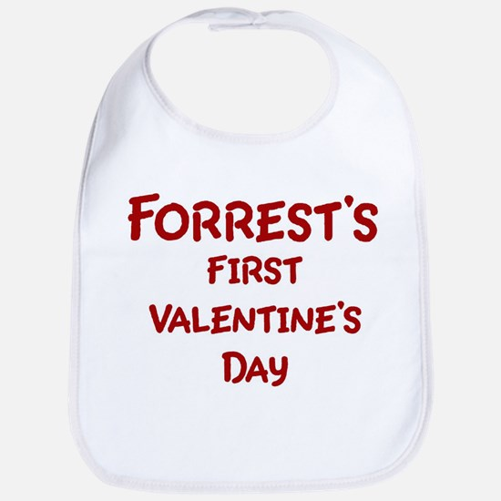 Forrests First Valentines Day Bib