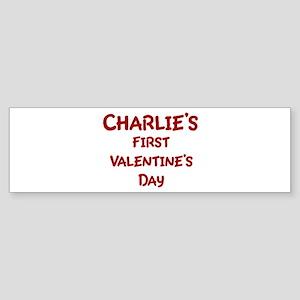 Charlies First Valentines Day Bumper Sticker