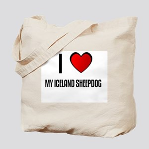 I LOVE MY ICELAND SHEEPDOG Tote Bag