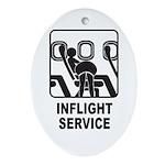 Inflight Service Oval Ornament