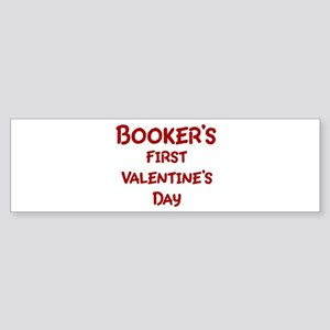 Bookers First Valentines Day Bumper Sticker