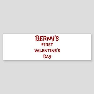Bernys First Valentines Day Bumper Sticker