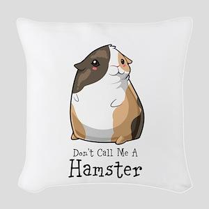 Guinea Pig not a Hamster Woven Throw Pillow