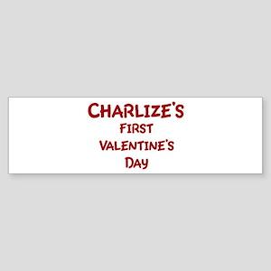 Charlizes First Valentines Da Bumper Sticker