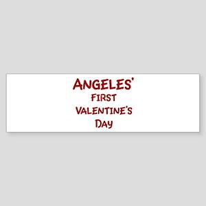 Angeless First Valentines Day Bumper Sticker