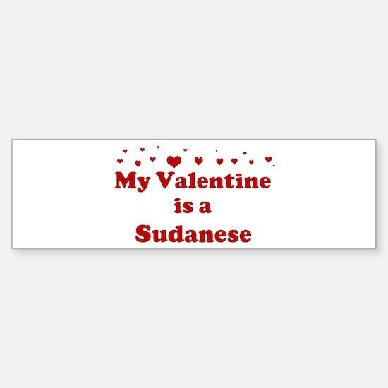 Sudanese Valentine Bumper Bumper Bumper Sticker