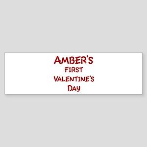 Ambers First Valentines Day Bumper Sticker