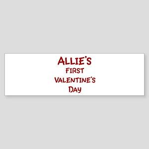 Allies First Valentines Day Bumper Sticker