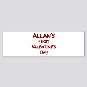 Allans First Valentines Day Bumper Sticker