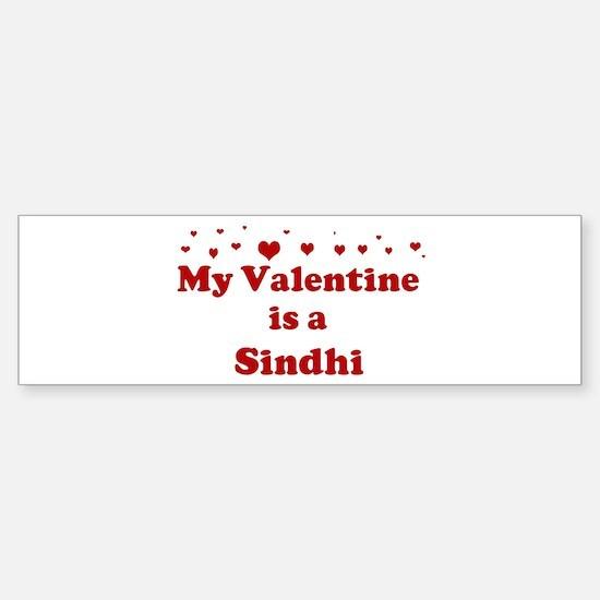 Sindhi Valentine Bumper Bumper Bumper Sticker