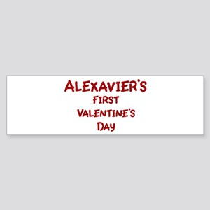 Alexaviers First Valentines D Bumper Sticker