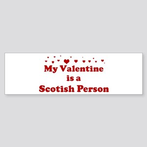 Scotish Person Valentine Bumper Sticker