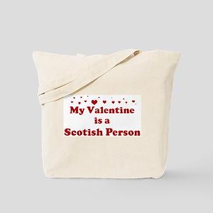 Scotish Person Valentine Tote Bag