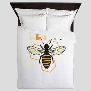Let It Honey Bee Honeycomb Cute Life Q Queen Duvet