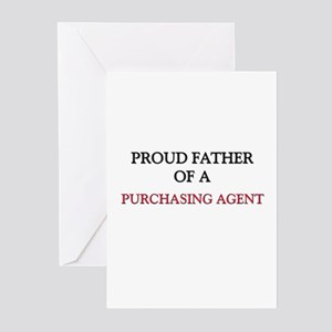 Proud Father Of A PURCHASING AGENT Greeting Cards