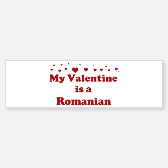 Romanian Valentine Bumper Bumper Bumper Sticker