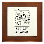 Bad Day at Work Framed Tile