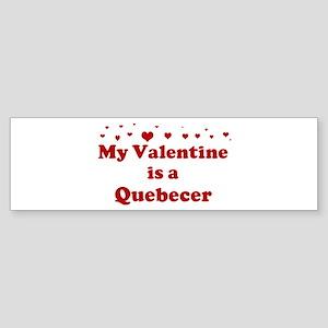 Quebecer Valentine Bumper Sticker
