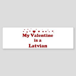 Latvian Valentine Bumper Sticker