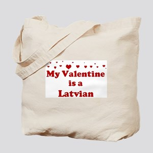 Latvian Valentine Tote Bag