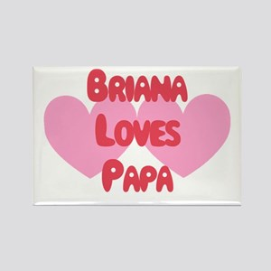 Brianna Loves Papa Rectangle Magnet