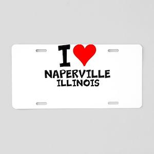 I Love Naperville, Illinois Aluminum License Plate