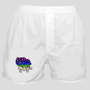 Rainbow Hearts Pig Boxer Shorts