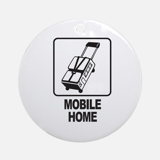 Mobile Home Ornament (Round)