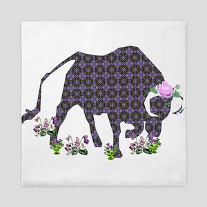 Purple Ox With Rose Queen Duvet