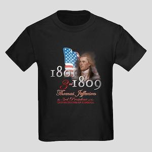3rd President - Kids Dark T-Shirt