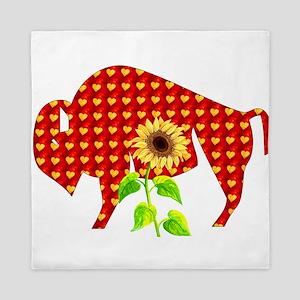 Hearts Ox With Sunflower Queen Duvet