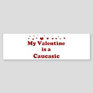Caucasic Valentine Bumper Sticker